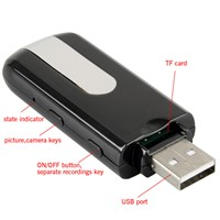 Mini DVR U8 USB Disk HD Hidden Spy Pinhole Camera Detector Video Recorder