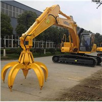 BEIYI hydraulic rotating orange peel grapple excavator scrap grab