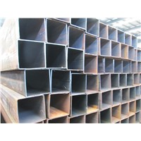 Black carbon steel welding ERW square pipe and galvanized pipe supplier