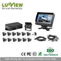 12 Sensors Backup Reversing Sensor Connect with Rearview Camera System for Truck,Trailer