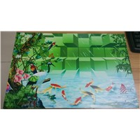 Large printing format UV flatbed printer in ceramic tiles and glass printing with high resolution