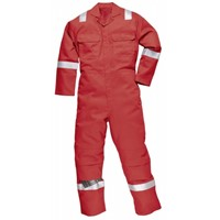 fire retardant coverall with reflective tape