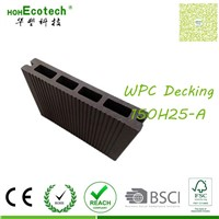 Anti skidding child safe outdoor patio large scale slot wpc decking