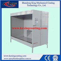 China Hot Selling Manual Powder Coating Spray Booth
