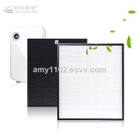 Hepa air filter media for air cleaner