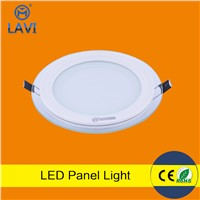 Residential commercial 6w 12w 18w smd5730 glass led panel light ce rohs
