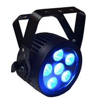 STAGE LIGHTS RGBW QUAD LED PAR 56 FLAT MINI DISCO PARTY CLUB LIGHT POWERCON