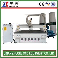 Woodworking CNC Carving Machine With Dust Collector 1500*2500mm ZK-1525