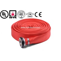 canvas fire sprinkler hose PVC pipe by china manufacturer,fire resistant hose used in cabinet