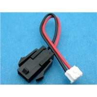 2Ways Cable And Wire Harness Assembly Molex Mount Panel Connector For Pos Machine