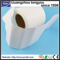 High gloss white adhesive sticker for thermal transfer printer