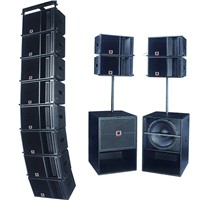 Dual 10 Inch Waveguide Horn Line Array