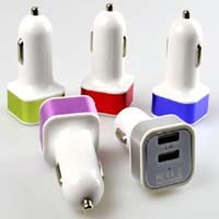 Cheap Price Alloy Square Dual USB Car Charger 2.1A