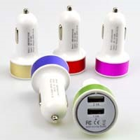 Cheap Price Alloy Ring Dual USB Car Charger 2.1A