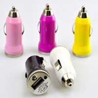Cheap Price Mini Bullet Single USB Car Charger 0.8A