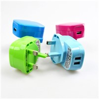 Travel Mobile Phone USB Wall Charger 1.0A UK 3Pin TUV CE RoHs IEC CB approved