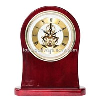 Luxury Grand Rosewood High Gloss Piano Finish Skeleton MovementTable Gift Clock