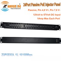 24 Ports Passive PoE Injector Panel