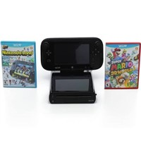 AUTHENTIC AND BRANDED Wii U - 32 GB - Black  Land and Super Mario 3D World