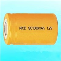 Hot selling NI-CD SC 1300mAH 1.2V rechargeable battery made in China