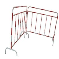 galvanized and coloured interlocking crowd control barrier