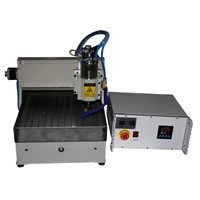 mini cnc router 3d engraving machine, 300*400mm with stainless steel water tank
