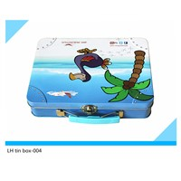 Big lunch tin box for gift
