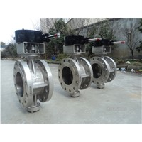 CY40(INCONEL600)three-eccentric center butterfly valve