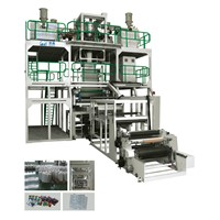 Co-extrusion (Rotary Traction downward blowing) High Barrier Film Blowing Machine Line