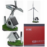 Custom Solar Windmill with Small House Radio Player wind turbine models