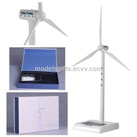Plastic Solar Power Win Turbine Generator Model