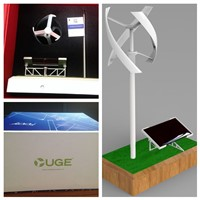 Uge Vertical Windmill with Solar Rack wind turbine model