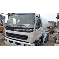 Used No-Oil-Leakage ISUZU Concrete Mixer Truck with Original Diesel Engine