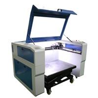 professional granite/tombstone/ceramic/marble 100W Co2 laser engraving machine with lifting trolley