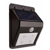 Solar panel charged sensor LED wall pack 1W outdoor lighting