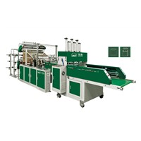 Automatic Double Channels Double Layer 4/6 Lines Vest Bag Sealing Cutting Machine