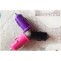 Colorful Car Charge Portable Mini Charger Mobile phone charger Universal Adapter for Samsung