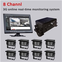 HDD Mobile 8 channel 3G GPS Car DVR Vehicle CCTV Mobile Recorder