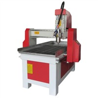 Jinan CNC router, 6090, for aluminum, wood, PCB, with 4 axis
