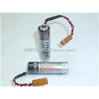 PLC Toshiba  ER6V Lithium 2000mah 3.6V AA Cylindrical Battery used for backup power