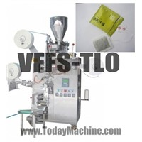 Tea bag packing machine(double chamber, innter outer bag, thread, label)