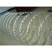 supply spiral razor barbed wire fence,Spiral Razor Wire Security Barrier