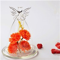 Hand Made Angel Glass Dome Vase Beautiful Glass Cover Home Decoration