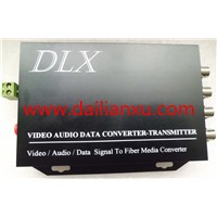 DLX-DVOP04-E 4channels Video +1CH Reverse RS485 Fiber Optical Transmitter and Receiver