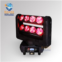 Rasha High Quality Dual Head 8pcs*10W Cree RGBW 4in1 LED Moving Head Bar Light,LED Spider