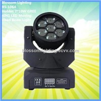 Amazing Hobbit 7*10W GREE 4IN1 LED Moving Head Beam Light (BS-1064)
