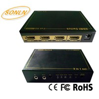 HDMI Switch 3X1 Support 4Kx2K 3D IR