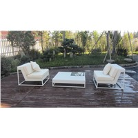 Mordern Wrought Outdoor Furniture Garden Rattan Sofas