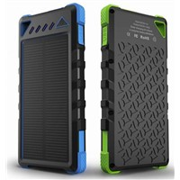 Superior quality 8000mah solar power bank, solar cellphone charger For iPhone | iPad | iPod