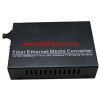 10 / 100m / 1000m Gigabit Ethernet Fiber Media Converter